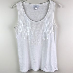Sequined Ann Taylor Tank Size M